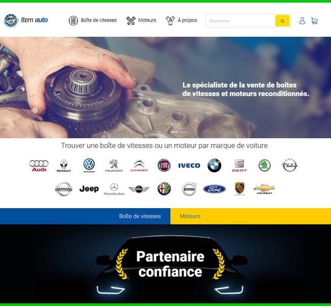 site internet item auto